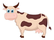 Cute cow cartoon standing Stock Image