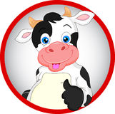 Cute cow cartoon thumbs up Stock Photos