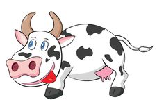 Cute Cow Cartoon Vector Illustration Stock Image