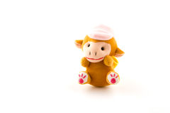 Cute cow doll isolated on white background. Royalty Free Stock Photos