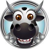 Cute cow head cartoon Stock Photos