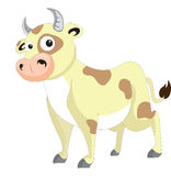 Cute cow, illustration Royalty Free Stock Images