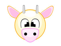 Cute cow illustration comic Royalty Free Stock Photography