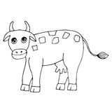 Cute cow isolated on the white background Stock Image