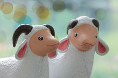 Cute cow sculptures Royalty Free Stock Photo