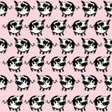 Cute cow  seamless pattern Royalty Free Stock Photos