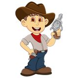 Cute Cowboy cartoon Stock Photos