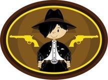 Cute Cowboy Gunslinger Stock Photos