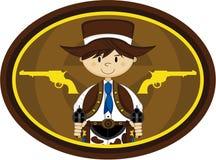 Cute Cowboy Gunslinger Royalty Free Stock Images