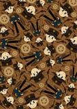 Cute Cowboy Sheriff Pattern Stock Image