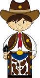 Cute Cowboy Sheriff Stock Image