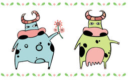 Cute cows royalty free stock photography