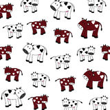 Cute cows Royalty Free Stock Photo