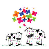 Cute cows Royalty Free Stock Image