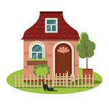 Cute cozy cottage for a fairy tale town. Royalty Free Stock Photos