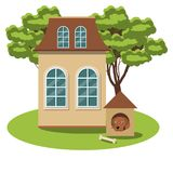 Cute cozy cottage for a fairy tale town. Royalty Free Stock Image