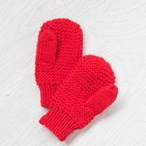 Cozy knitted winter mittens Stock Photography
