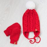 Cozy knitted winter set Royalty Free Stock Photo