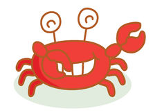 Cute crab cartoon Stock Photography