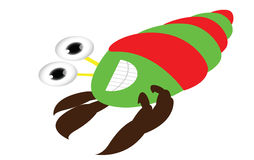 Cute crab cartoon posing Royalty Free Stock Photography
