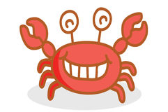 Cute crab cartoon smiling Stock Photography