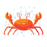 Cute crab isolated T-Shirt design for children. Royalty Free Stock Photos