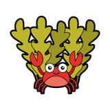 Cute crab sealife character. Vector illustration design royalty free illustration
