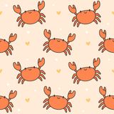 Cute crab Seamless Pattern Background vector illustration