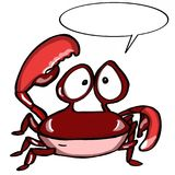 Cute crab and speaking. Ocean sea wildlife Royalty Free Stock Photo