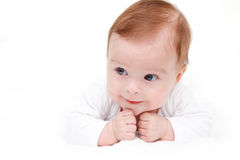 Cute crawling baby Stock Photo