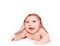 Cute crawling baby Royalty Free Stock Images