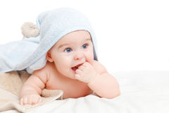 Cute crawling baby Stock Photography