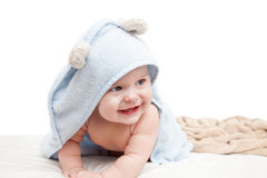 Cute crawling baby Royalty Free Stock Photos