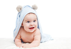Cute crawling baby Royalty Free Stock Photo
