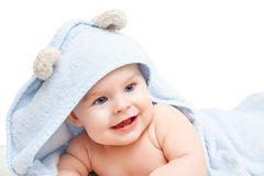 Cute crawling baby Royalty Free Stock Image