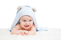 Cute crawling baby Royalty Free Stock Photos