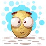 Cute crazy potato - cartoon illustration vector illustration