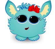 Cute  creature. With bow on its head Stock Images