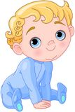 Cute Creeping Baby vector illustration