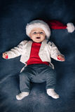 Cute cristmas  baby Stock Photos