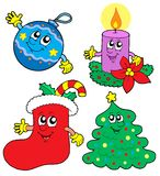Cute Cristmas illustrations collection Royalty Free Stock Images