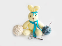 Cute crochet rabbit doll Stock Photography