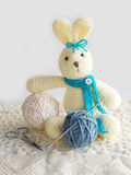 Cute crochet rabbit doll Royalty Free Stock Images