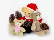 Cute crochet teddy bear doll Royalty Free Stock Photos