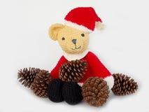 Cute crochet teddy bear doll Stock Photography