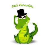 Cute crocodile or alligator Stock Photography