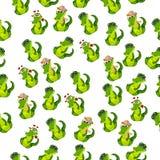 Cute crocodile or alligator Stock Images