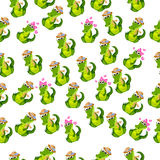 Cute crocodile or alligator Royalty Free Stock Images