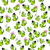 Cute crocodile or alligator Royalty Free Stock Photos
