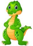 Cute crocodile cartoon giving thumbs up Stock Photo